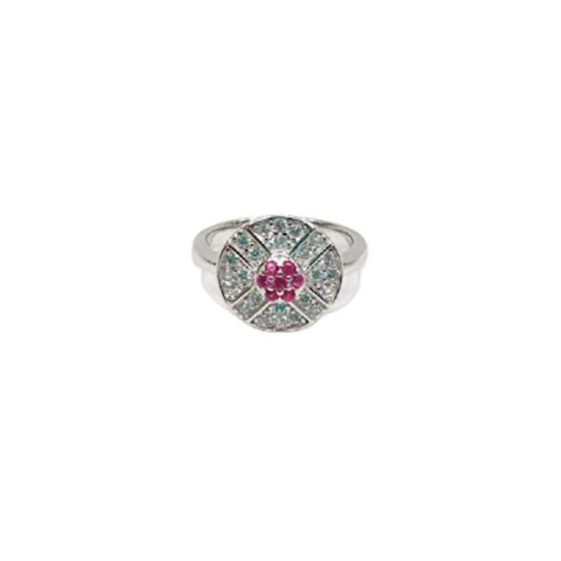 92.5 STERLING SILVER RING NATURAL RUBY GEMSTONE RING FOR MEN'S AND WOMEN'S