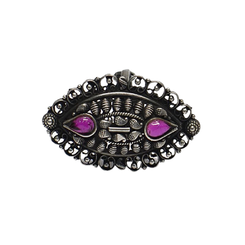 OXIDISED ADJUSTABLE RING FOR WOMEN