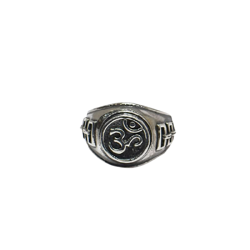 OXIDISED RING WITH OM FOR GIRLS