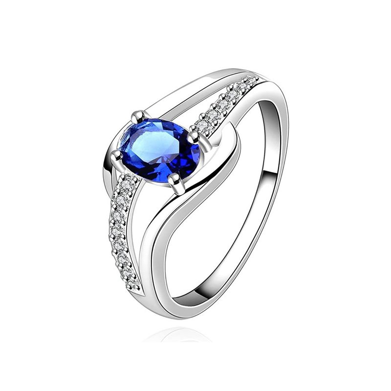 STERLING SILVER CRYSTAL RING FOR WOMEN