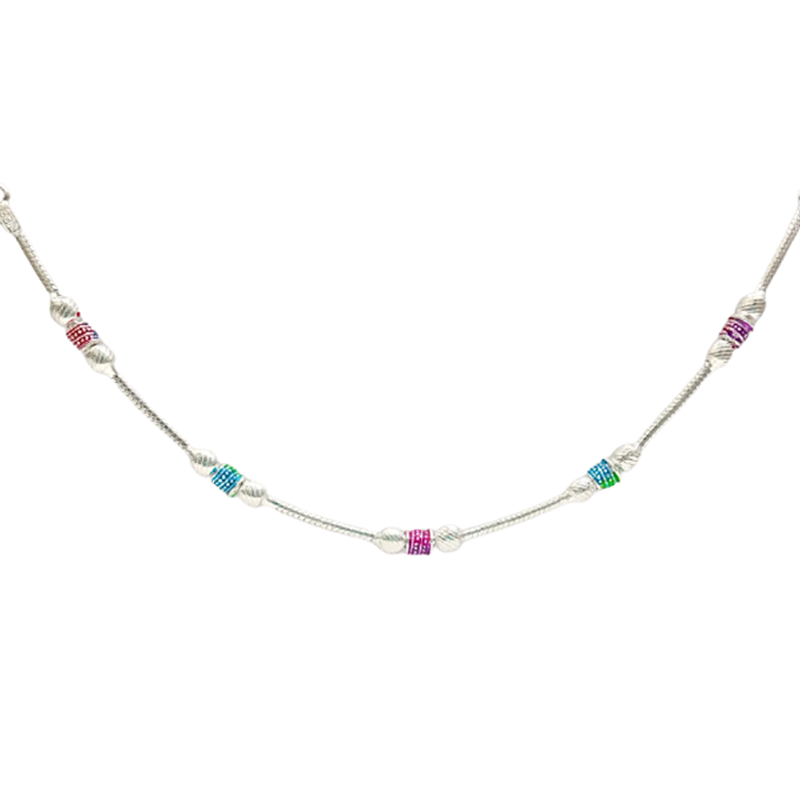 92.5 SILVER TRADITIONAL ANKLET FOR HOUSE WIFE