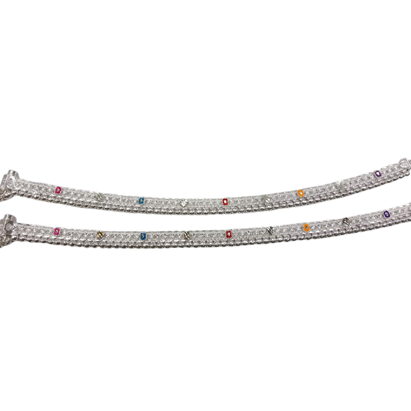92.5 SILVER  FANCY ANKLET FOR FOR LADIES