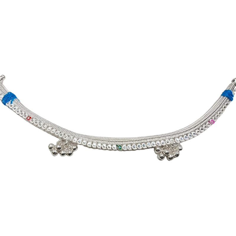92.5 SILVER LATEST DESIGNS ANKLET FOR GIRLS