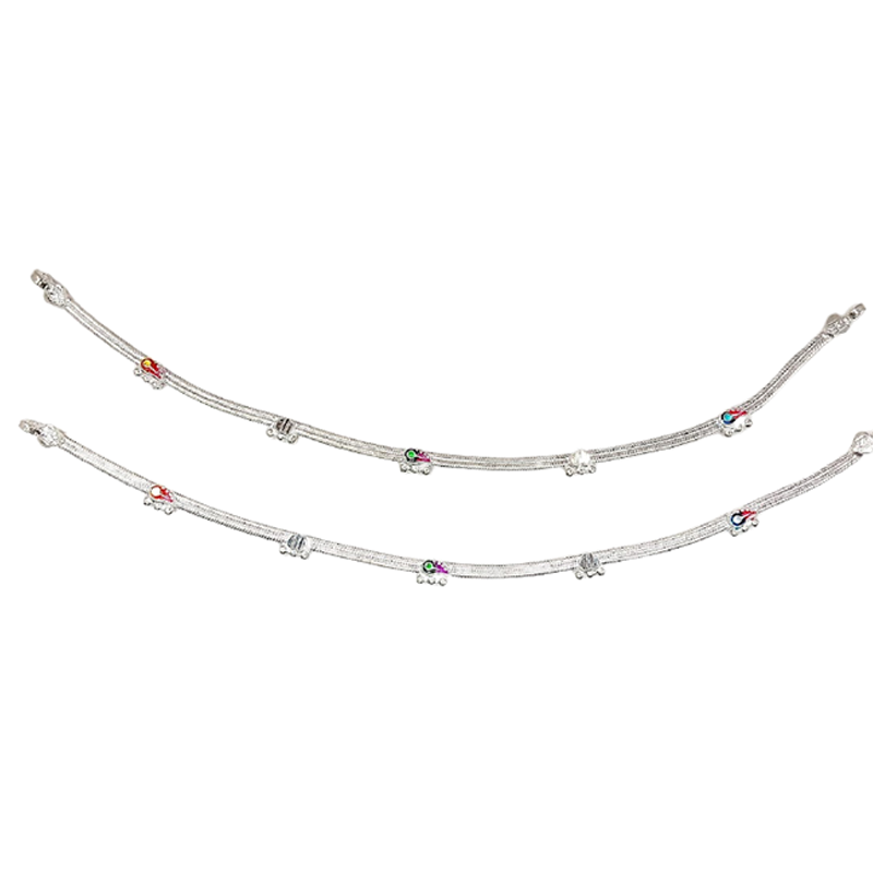 92.5 SILVER ANKLETS FOR PRINCESS