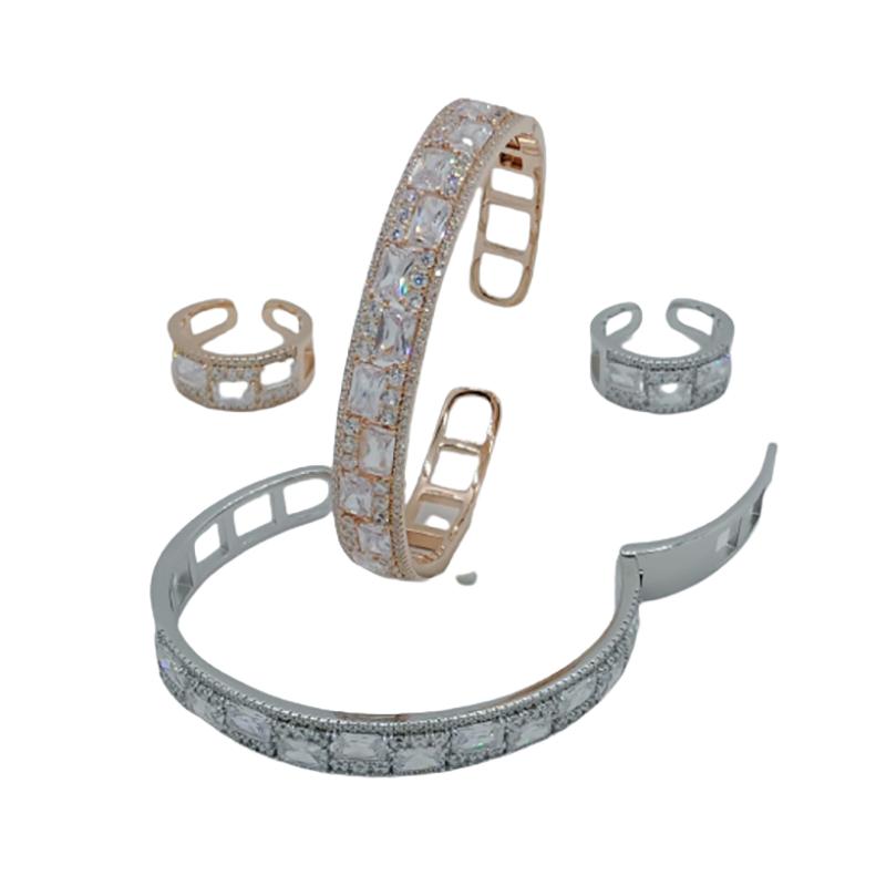 92.5 STERLING SILVER DIAMOND DESIGN BRACELET FOR WOMEN