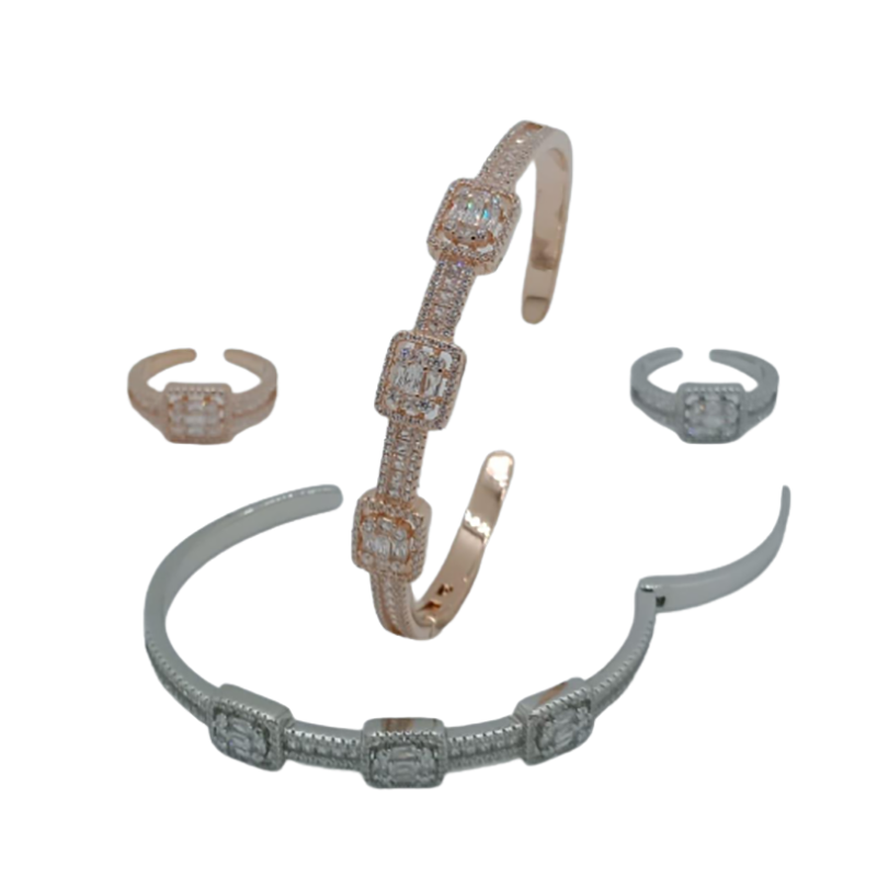 92.5 SILVER BRACELET WITH STONE FOR GIRLS