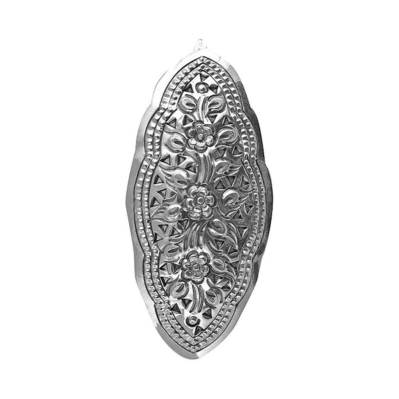 925 OXIDISED SILVER HAIR CLIPS FOR WOMEN