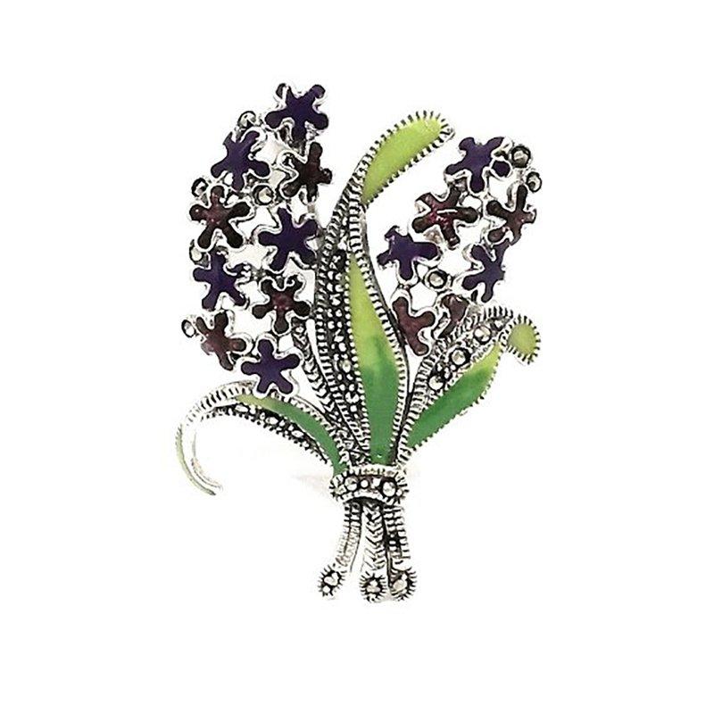 92.5 SILVER FANCY DESIGN SAREE PIN FOR WOMEN
