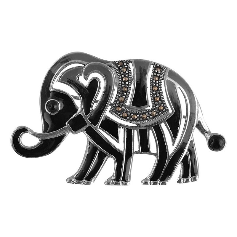 925 OXIDISED SILVER ELEPHANT HAIR CLIPS FOR GIRLS