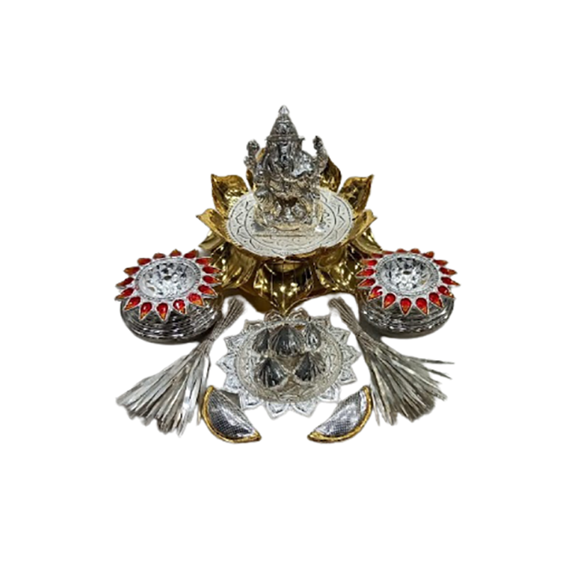 92.5 SILVER POOJA DECORATIVE POOJA ITEMS FOR HOME