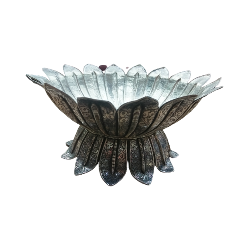 925 OXIDISED SILVER HAND CRAFTED BOWL FOR POOJA PURPOSE