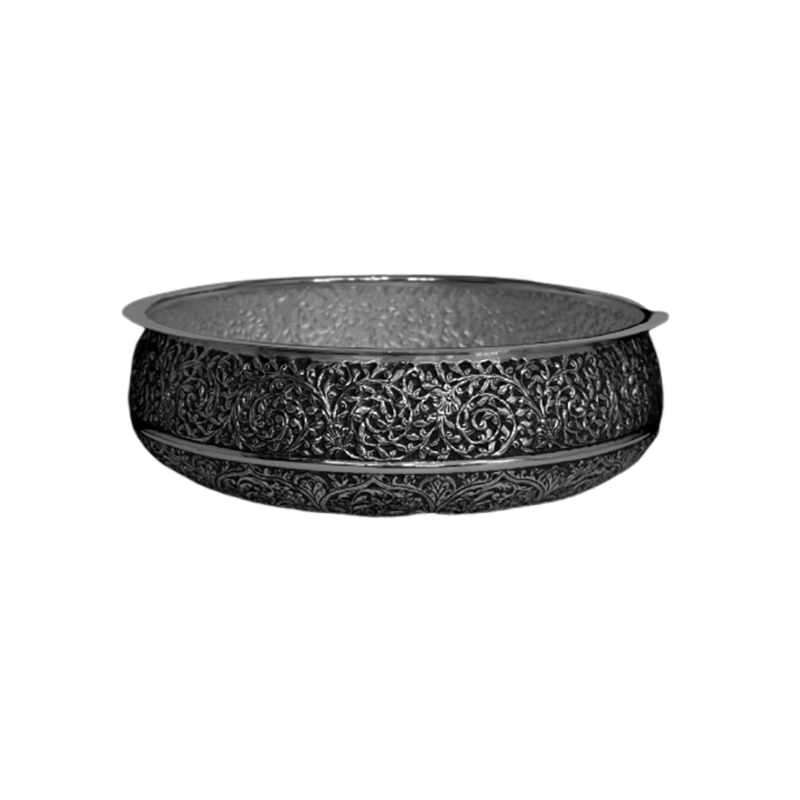 OXIDISED SILVER BOWL FOR POOJA