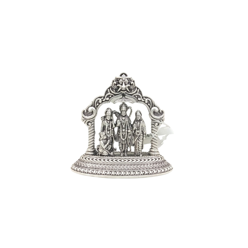 92.5 ANTIQUE SILVER LORD RAM DARBAR STATUE FOR POOJA