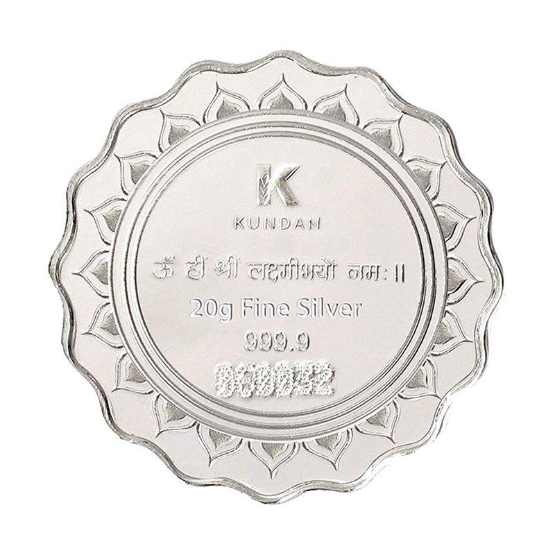 PURE SILVER LAKSHMI FEET COLOR COIN 20GM