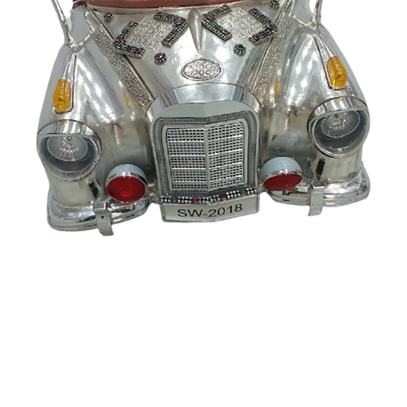 92.5 SILVER ANTIQUE CAR FOR KIDS