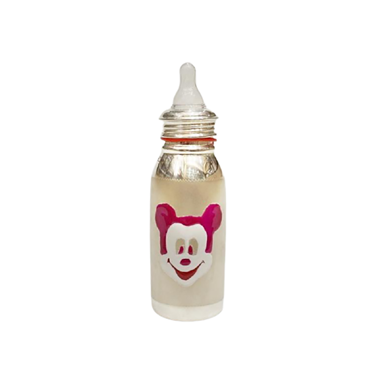 925 PURE SILVER FEEDING BOTTLE FOR BABY FREE SILICONE NIPPLE