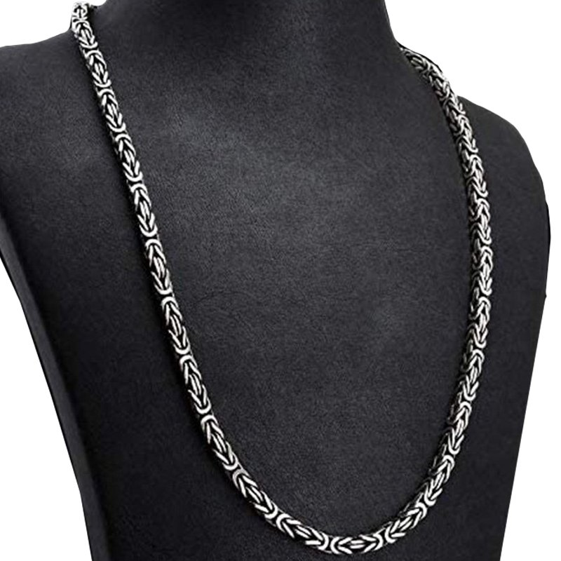 925 Sterling Silver Chain (pure) with Hallmarked for Men
