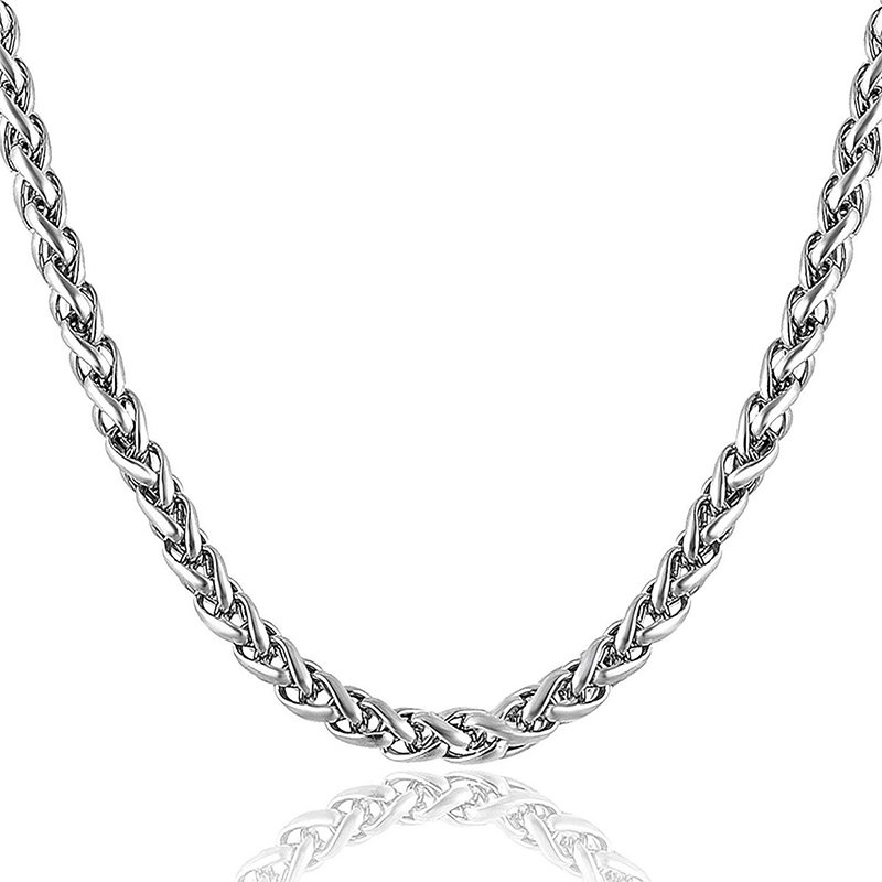 GENTS STYLISH LATEST DESIGN SILVER CHAIN FOR MEN