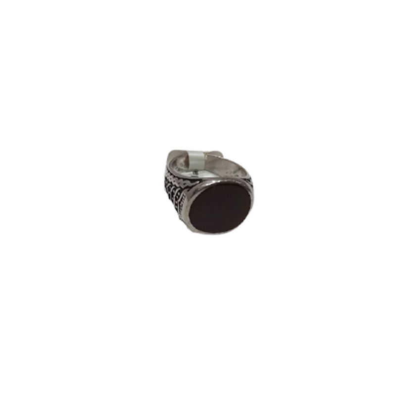 92.5 OXIDIZED SILVER TRADITIONAL FANCY RING FOR MEN