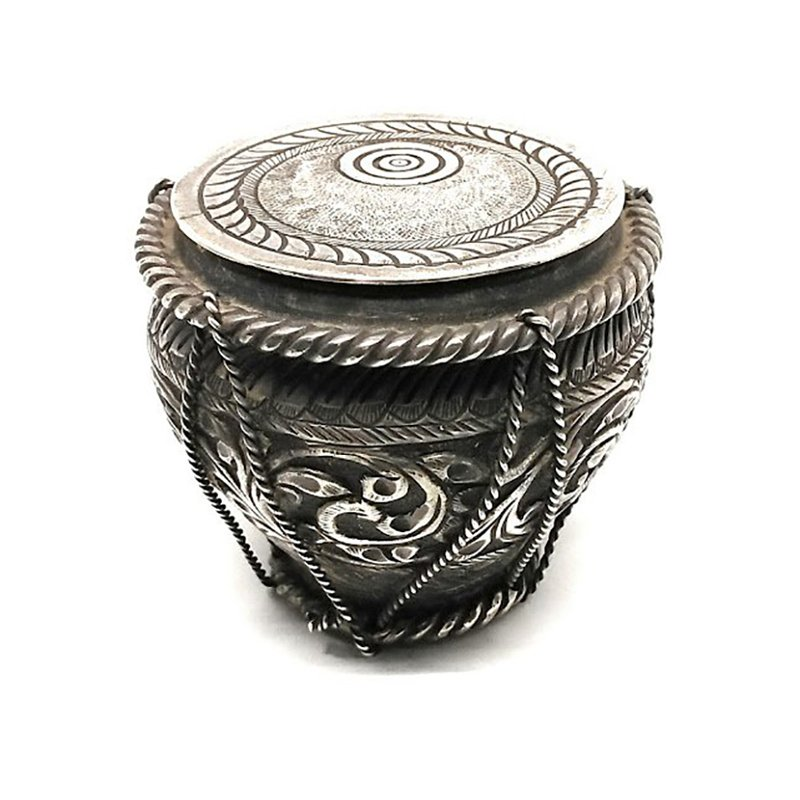 92.5 SILVER INDIAN MUSICAL INSTRUMENT TABLA