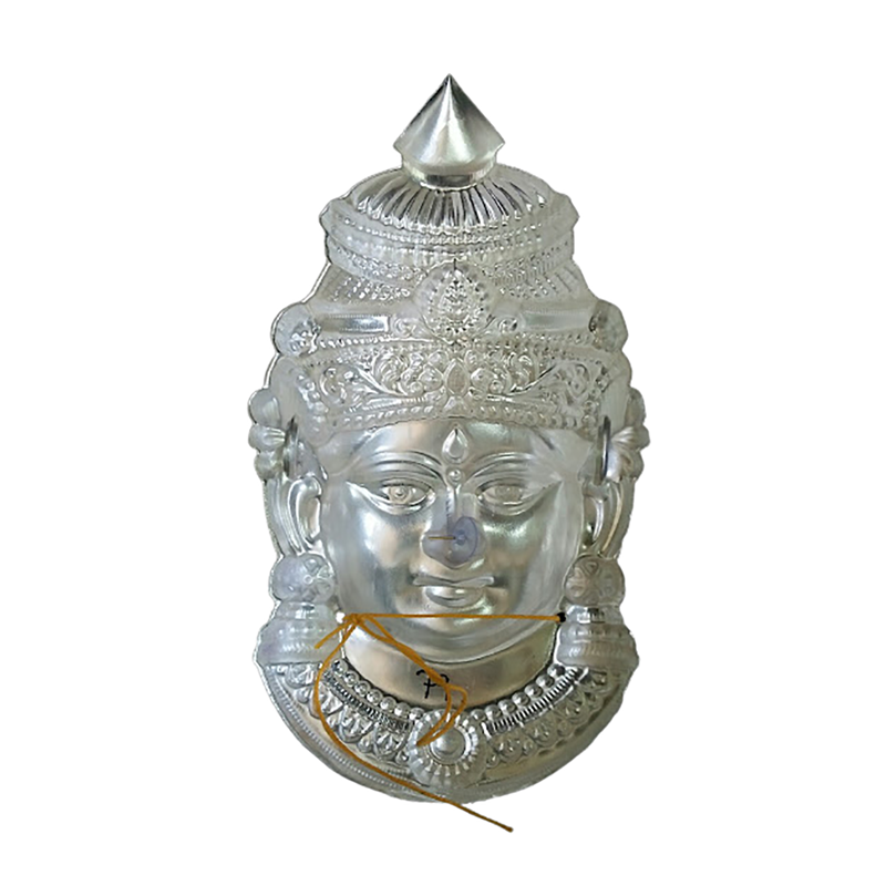 92.5 SILVER AMMAN FACE FOR POOJA