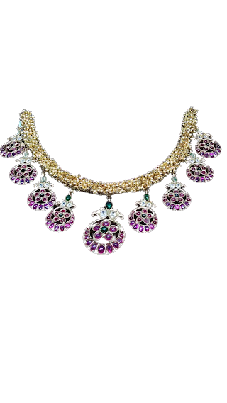 BRIDAL COLLECTION GOLD POLISHED NECKLACE