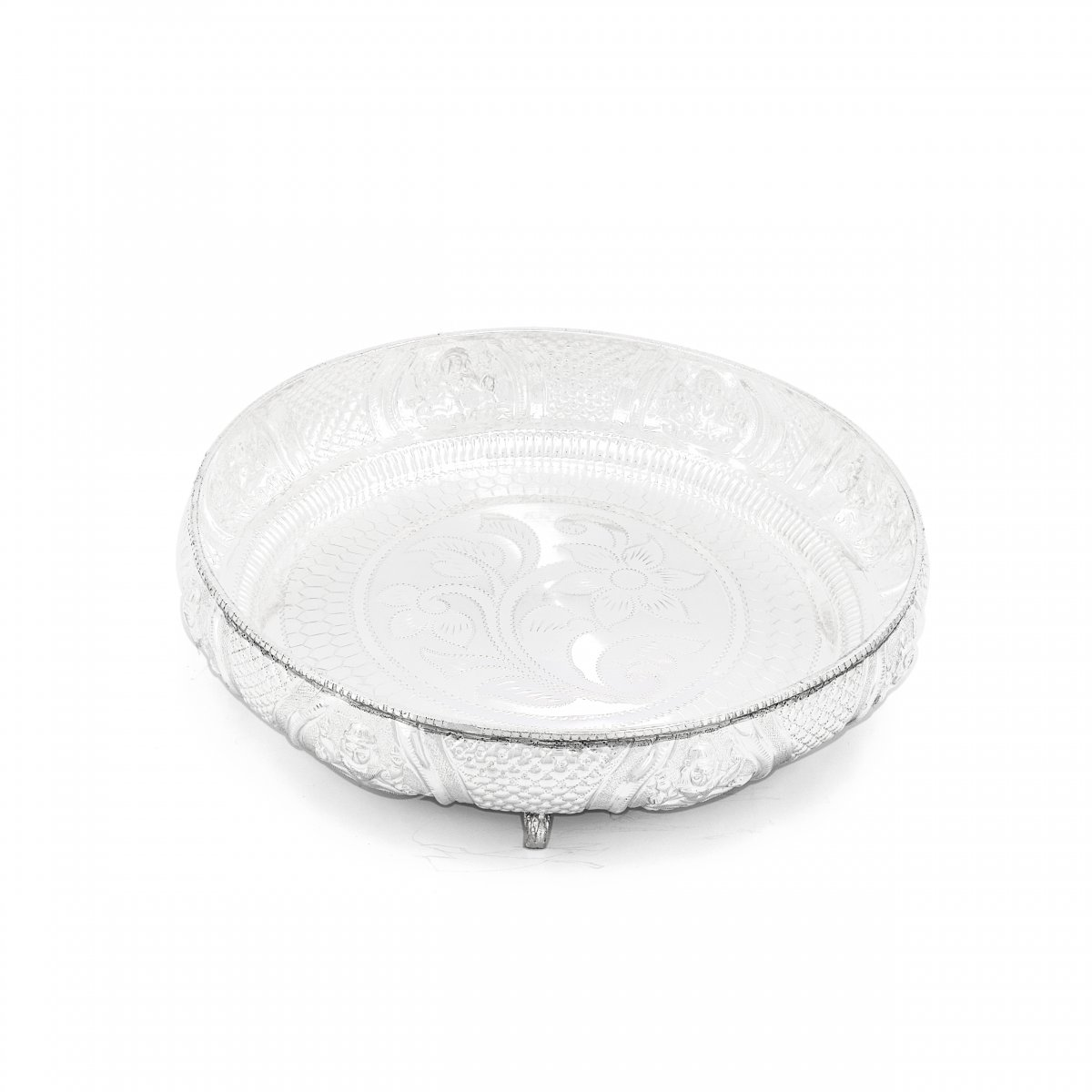 92.5 SILVER HAND CRAFTED PLATE FOR MULTI PURPOSE