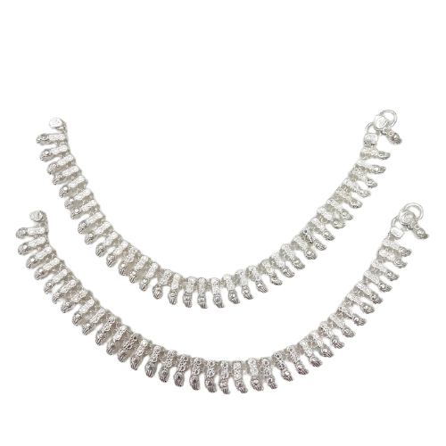 SILVER FANCY COLLECTION ANKLETS FOR WOMEN