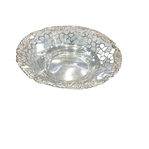 PURE SILVER HAND CRAFTED FEEDING BOWL