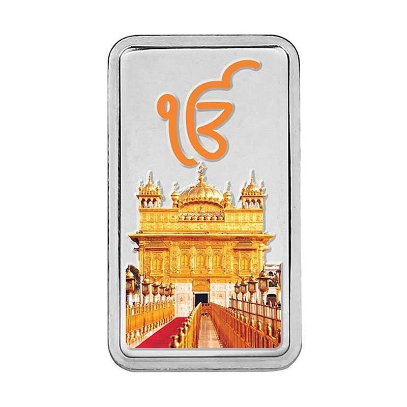 PURE SILVER  IK ONKAR COLOERED 999 SILVER BARS