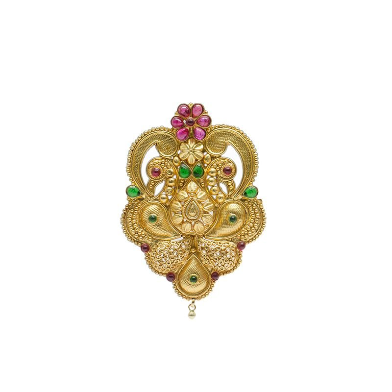HAND CRAFTED  GOLD POLISHED PENDANT FOR WOMEN