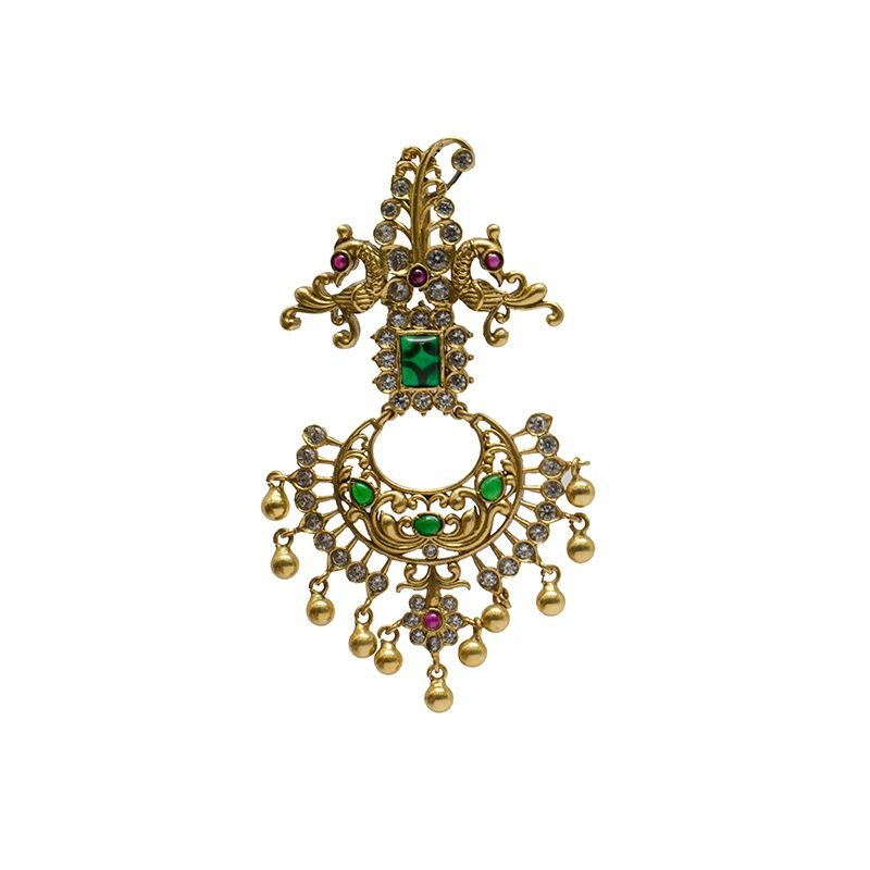 BROACH PENDANT GOLD POLISHED PENDANT FOR GIRLS