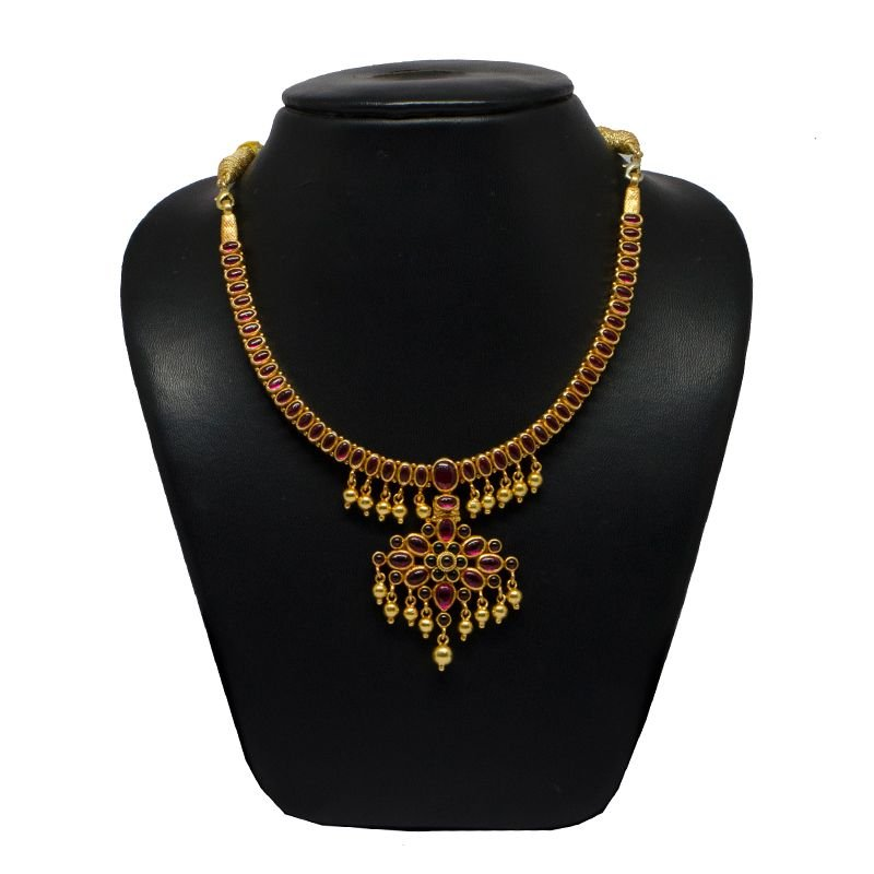 SPINAL GOLD POLISHED NECKLACE FOR GIRLS