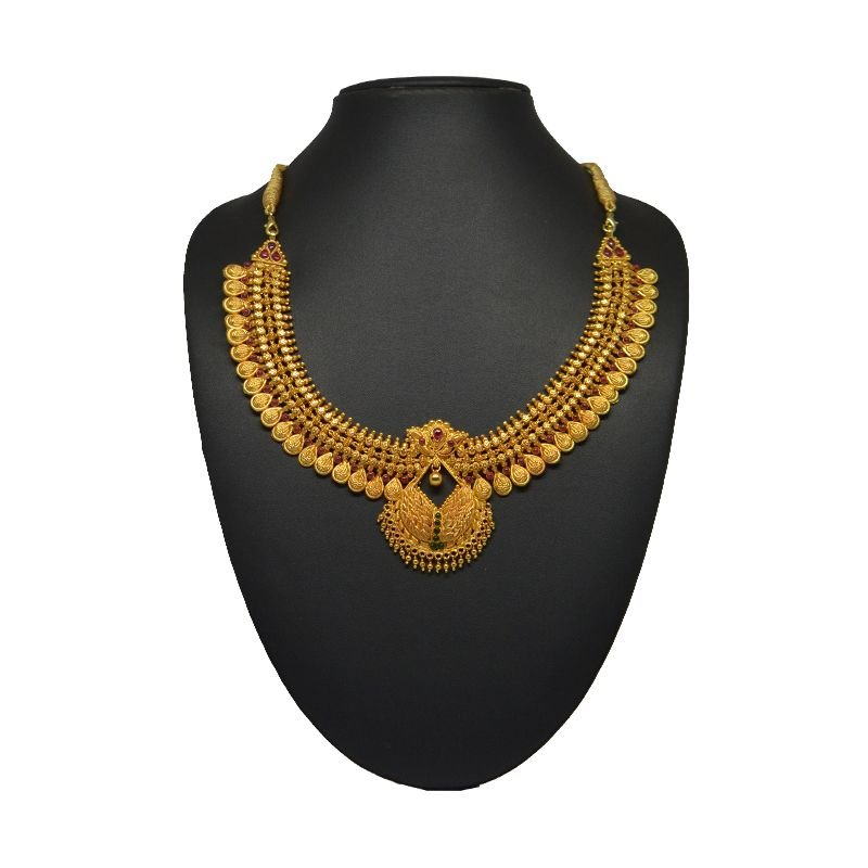 PEAR DROP GOLD POLISH NECKLACE FOR GIRLS