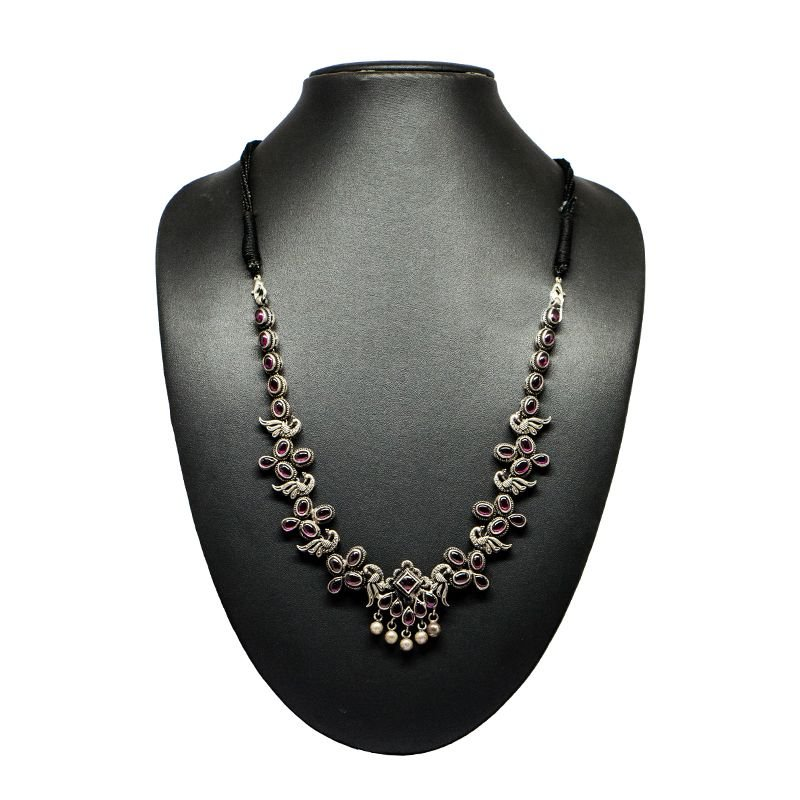 92.5 SILVER SPINAL CAST NECKLACE FOR GIRLS
