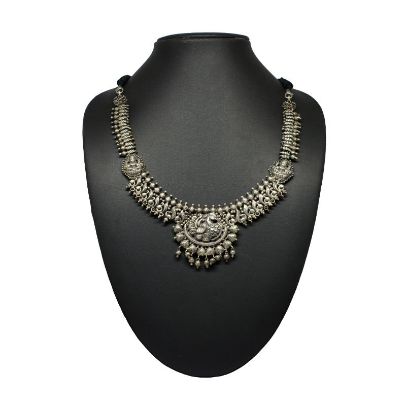 ANNAM OXIDISED SILVER NECKLACE FOR GIRLS