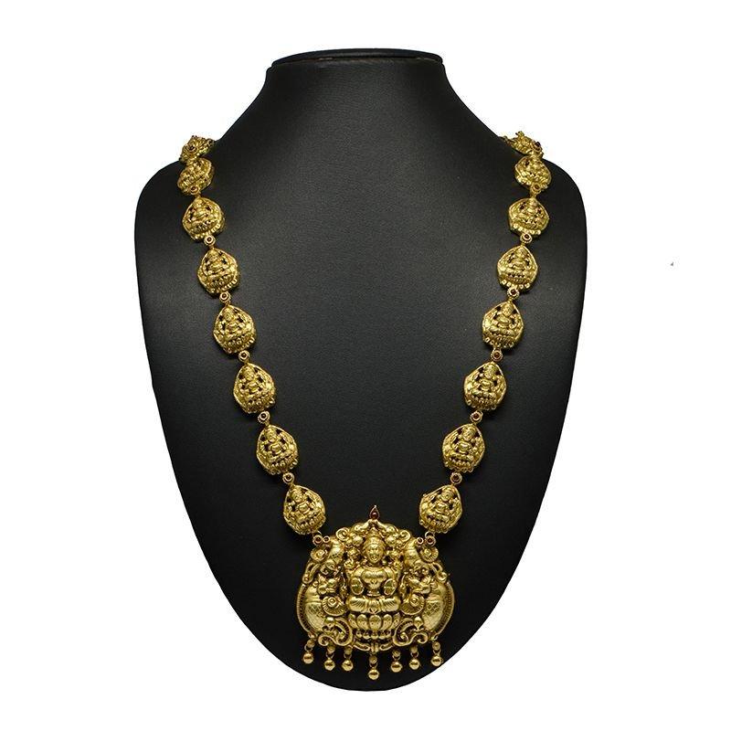NAGAS LAKSHMI ANNAM GOLD POLISH HAARAM GOR LADIES