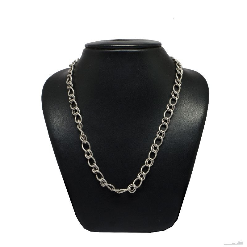 LIGHT WEIGHT MODEL FIGARO OXIDISED PURE SILVER MENS CHAIN