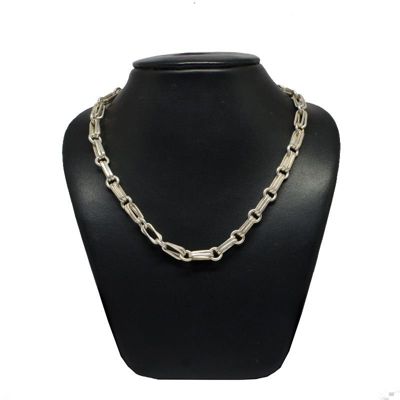 FIST KNOT OXIDISED PURE SILVER MENS CHAIN