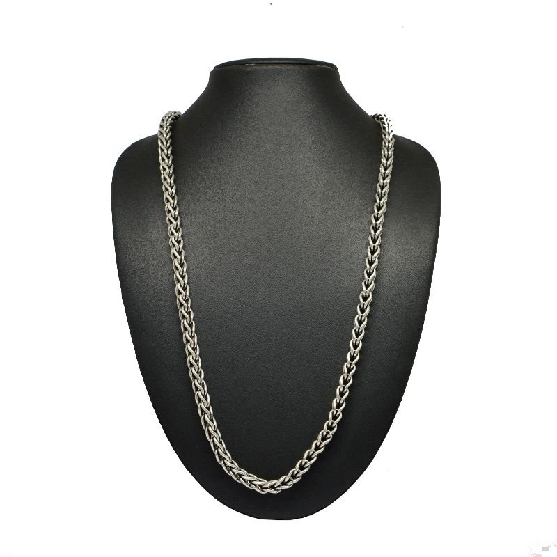 HORSE KNOT OXIDISED PURE SILVER MENS CHAIN