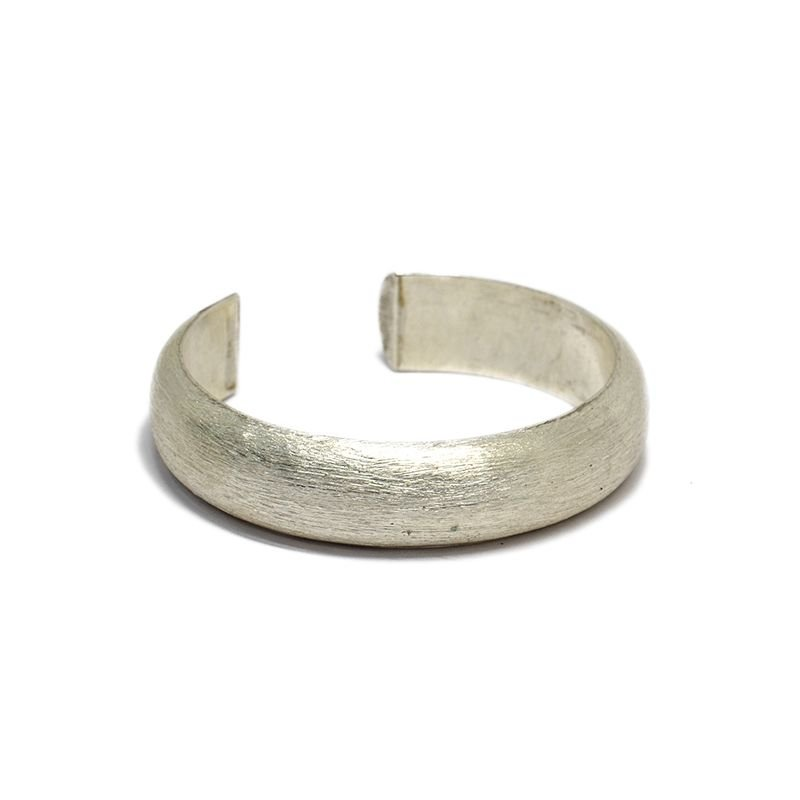 92.5 SILVER RIBBED GENS CUFF FOR MEN