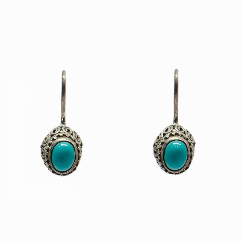 SILVER TURQUOISE DROP FOR GIRLS