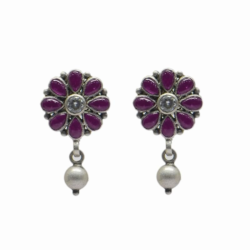 SILVER PEARL DROP EARRING FOR LADIES