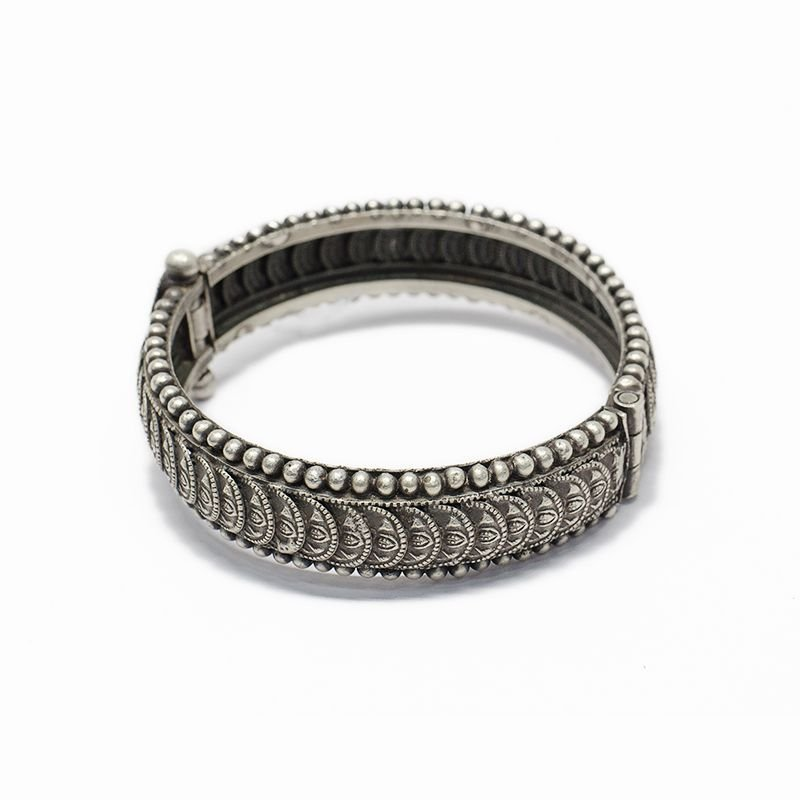 SILVER LAKSHMI COIN BANGLE FOR WIFE