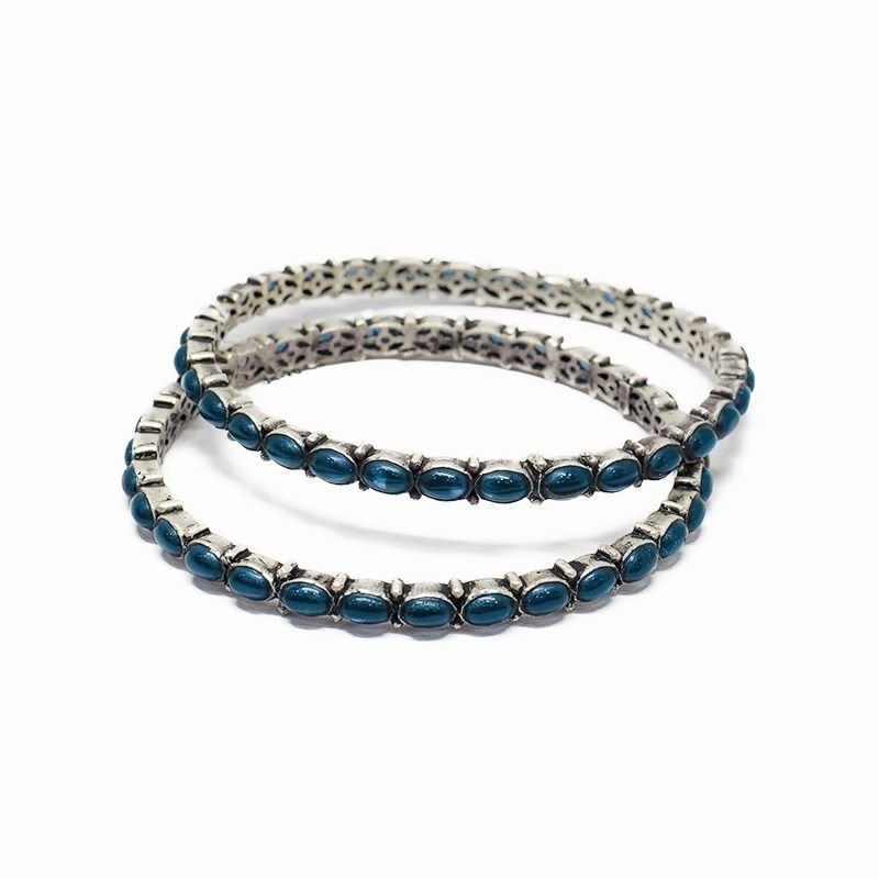 BLUE SPINAL ETERNITY BANGLES