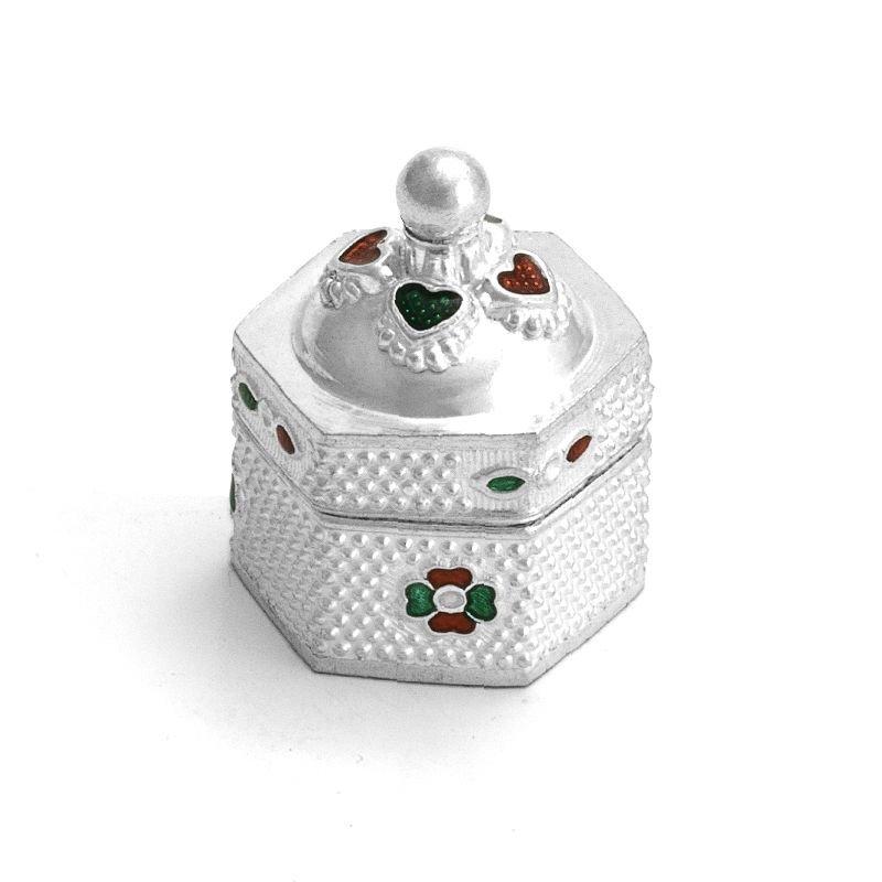 Sindoor Dabbi with Lid, Pooja Items for Home, KumKum Round Box