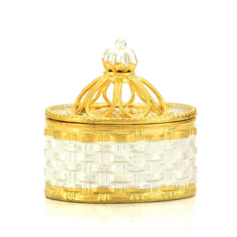 GOLD POLISHED TWO TONE KUNGUMUM BOX