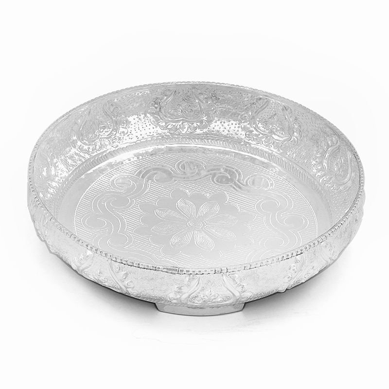 SP 81  Pure Silver  pooja Plate