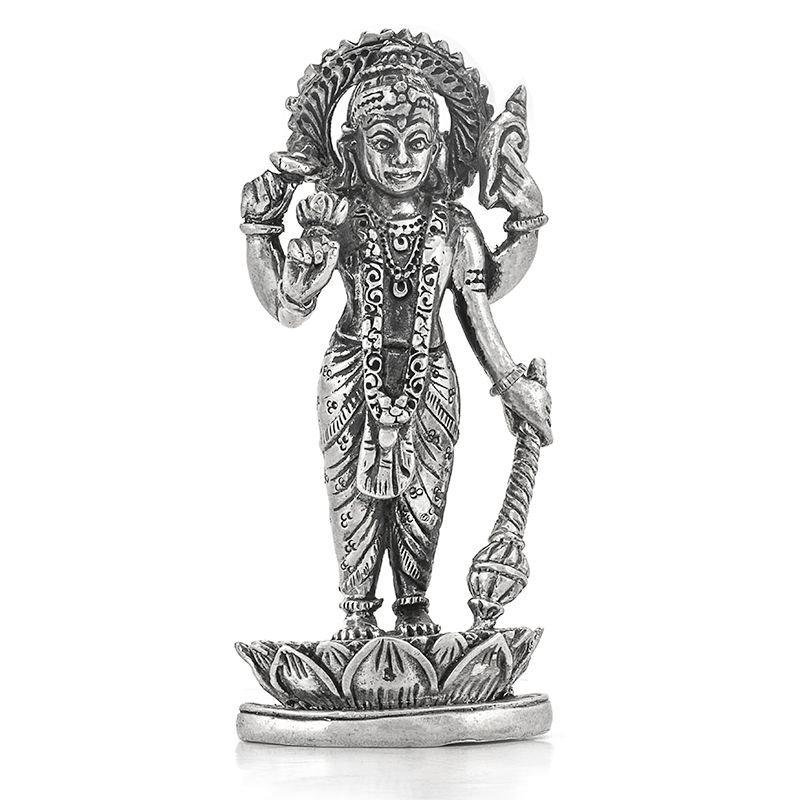 silver vishnu idol / statue
