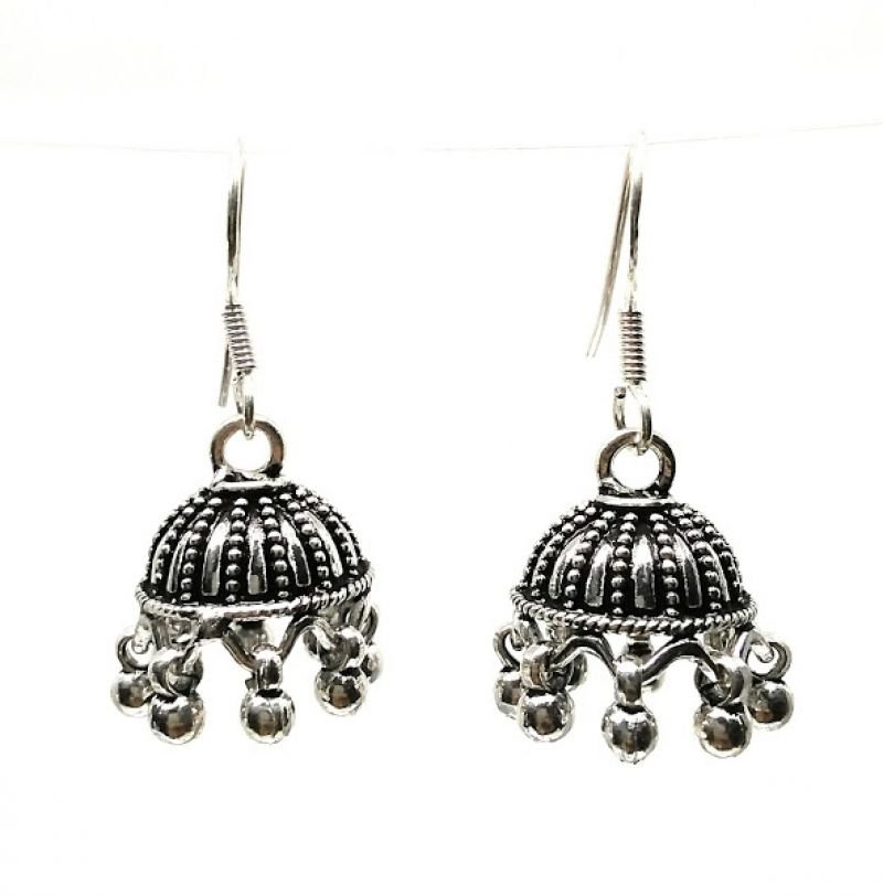 92.5 ANTIQUE SILVER FISH HOOK EARRINGS FOR HOUSE WIFE